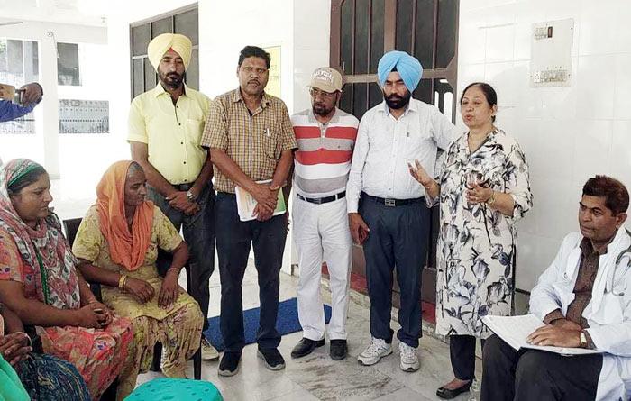Health Dept activities in flood villages