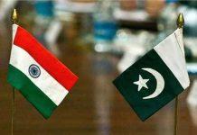 India Pakistan Table Flag