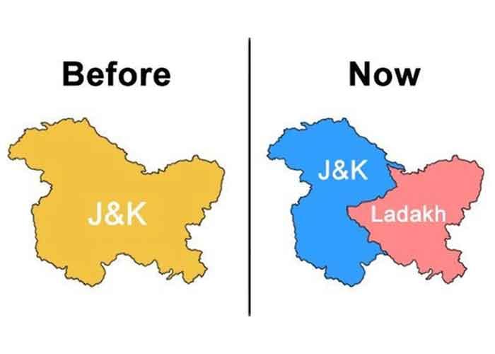 Jammu Kashmir Map Before Now