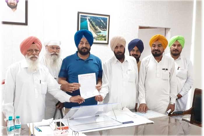 Kangar Nambardar Union donate money to CM Relief Fund