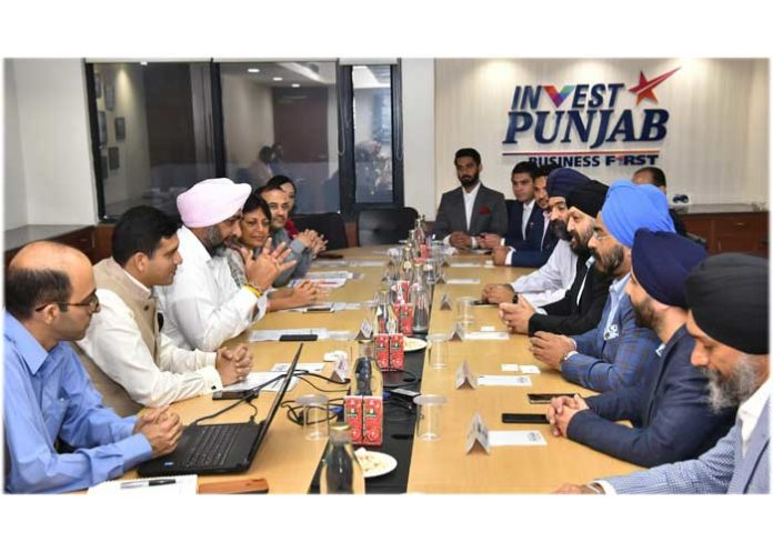 Manpreet Badal Entrepreneur Delegation Meeting