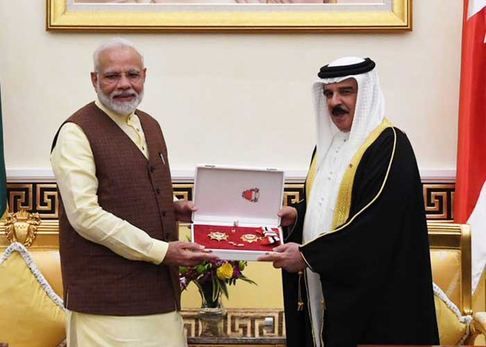 Modi conferred with King Hamad Order of the Renaissance