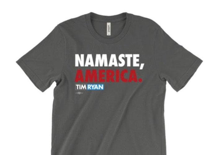 Namaste America T Shirt
