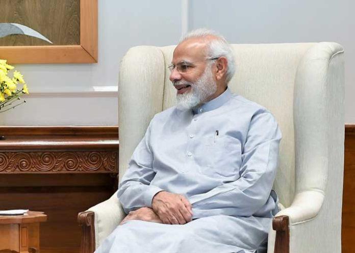 Narender Modi Chair Smiling