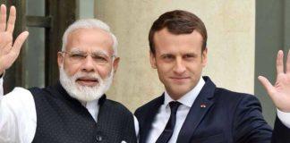 Narendra Modi Emmanuel Macron