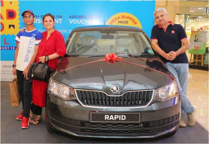 Nisha Sauhta win Skoda Rapid VR Punjab