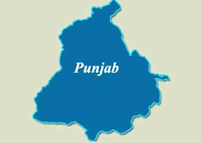 Punjab Map Blue