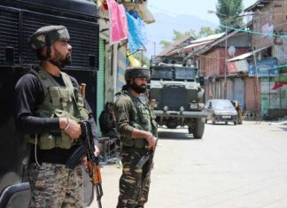 Security Forces in Tral Kashmir