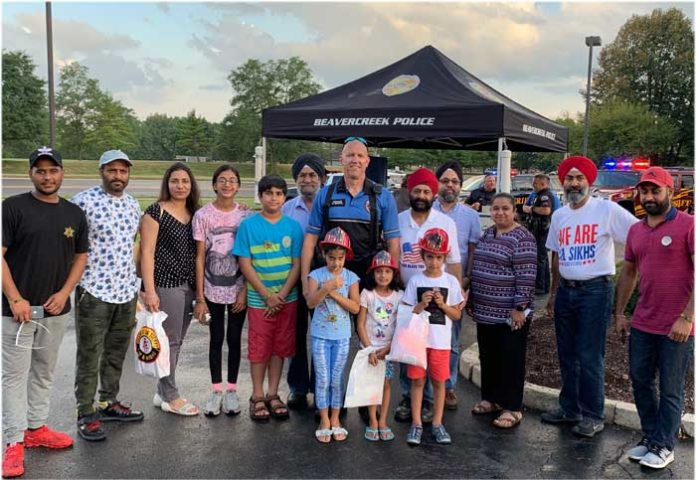 Sikhs at National Night Out Ohio 1
