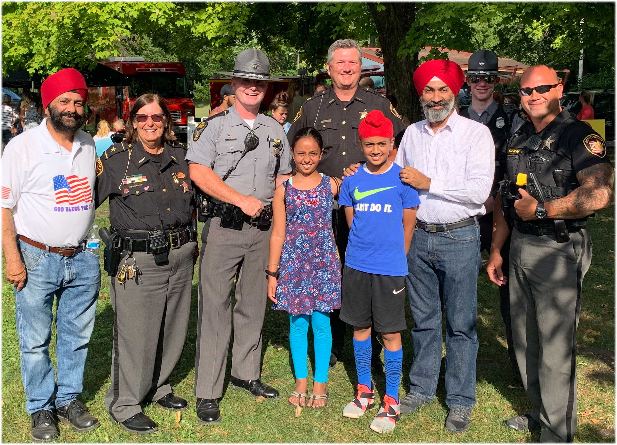 Sikhs at National Night Out Ohio 2