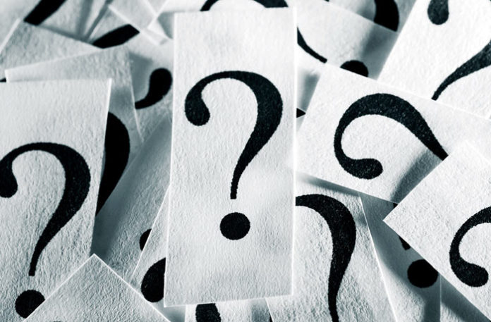 question marks cards