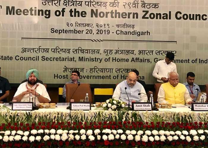 Amarinder Amit Shah Northern Zonal Council meeting