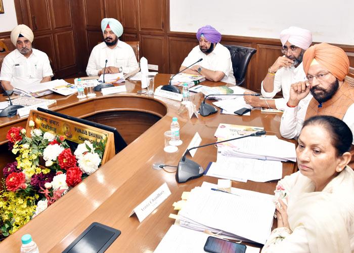 Amarinder meeting at Punjab Bhawan Chandigarh