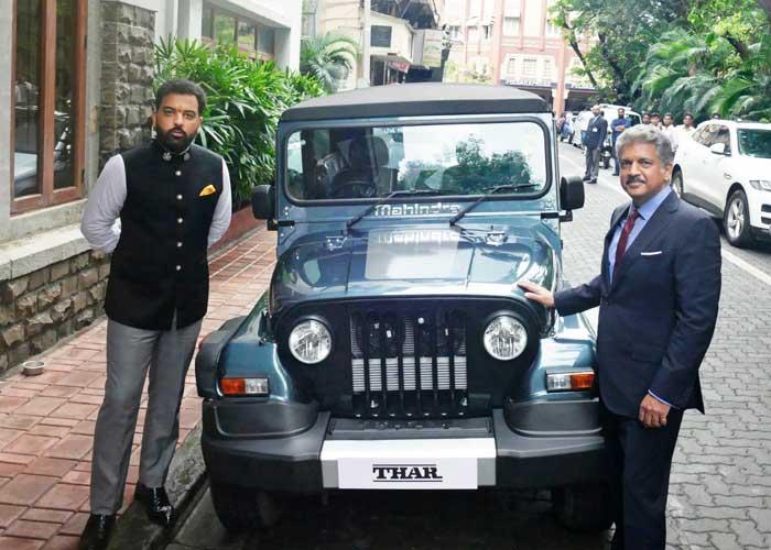 Anand Mahindra gift Thar to Lakshyaraj Singh Mewar