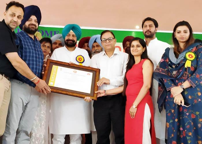 Balbir Singh Sidhu State Award Kayakalp Swachh Bharat Abhiyaan