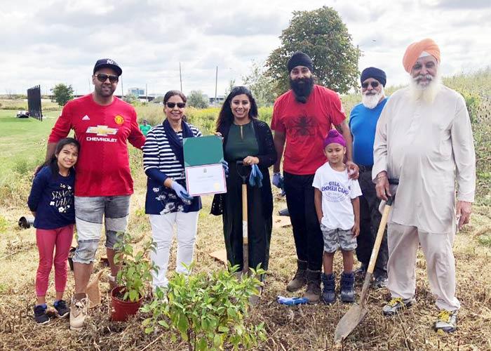 EcoSikh Canada trees in honor of Guru Nanakji