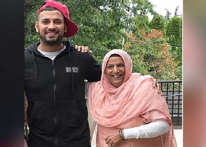 Garry Sandhu with mother