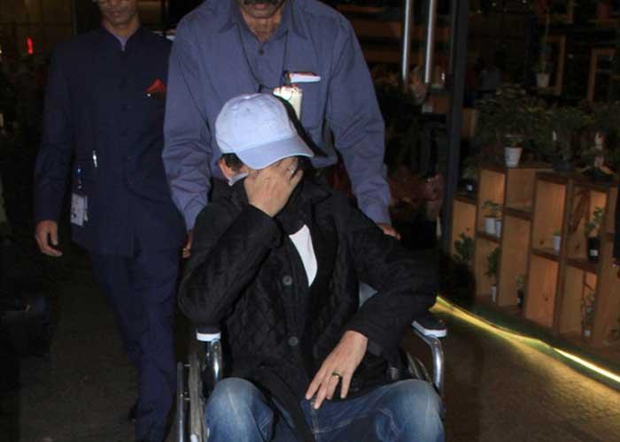 Irrfan Khan in wheelchair