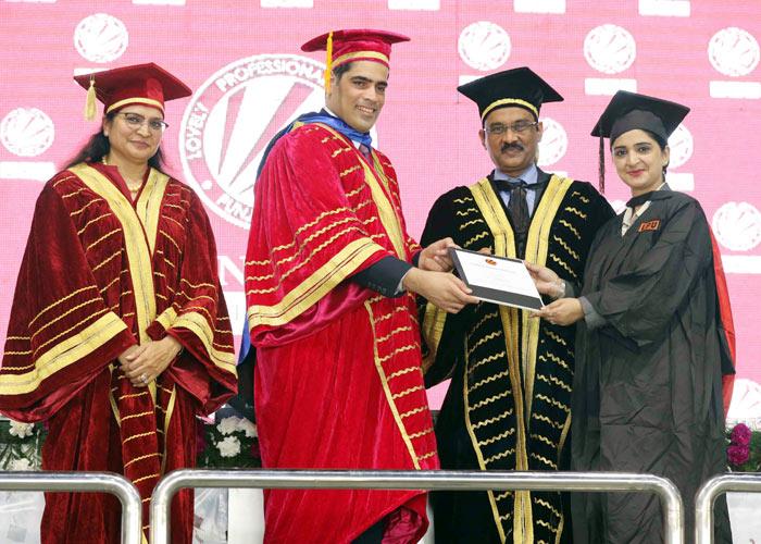 PhD degree Namita Kaur LPU Convocation