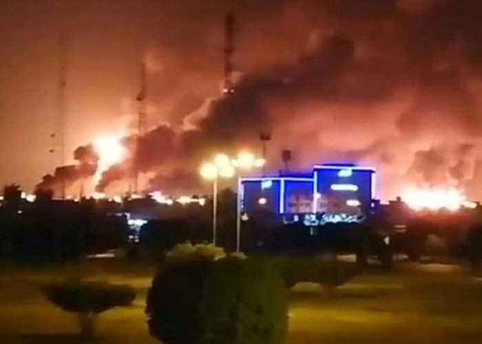Saudi Arabia oil field fire