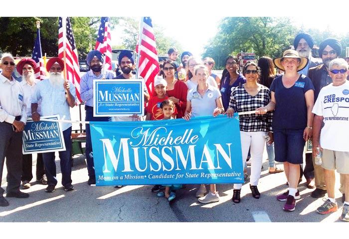 Sikh Community Group Participates Illinois Labor Day Parade