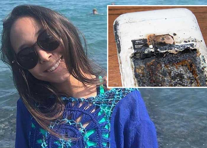 Alua Asetkyzy Abzalbek phone battery explode 1