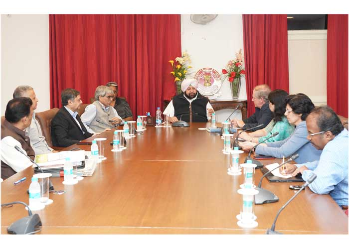 Amarinder World Bank Delegation meeting