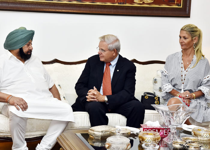 Amarinder meeting Senator Robert Menendez