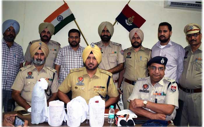 Bhupinder Singh SSP Seize Heroin Ferozepur