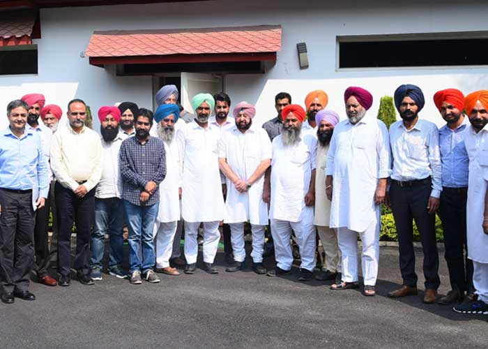 Capt Amarinder Meet Progressive Farmers