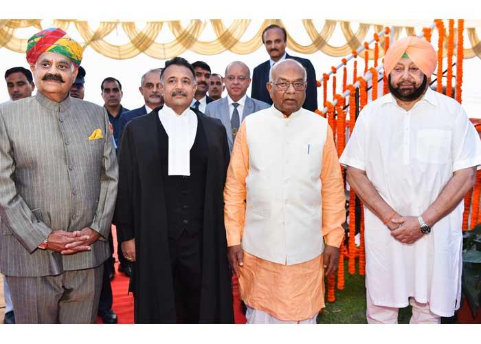 Justice Ravi Shankar Jha Oath Ceremony Amarinder Badnore