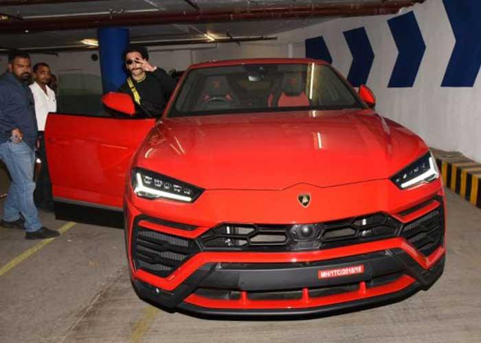 Ranveer Singh Red Lamborghini