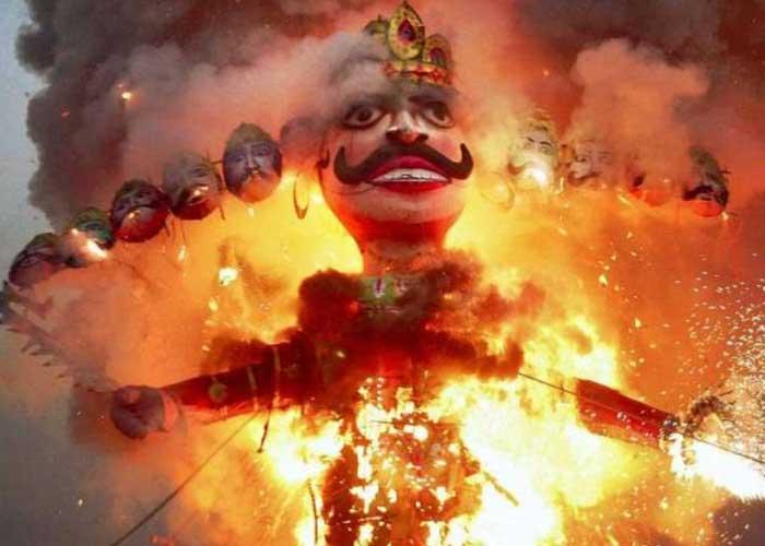 Ravana Effigy Burning