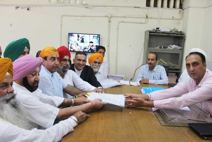 Sandeep Singh Sandhu Filling Bypoll nomination 1