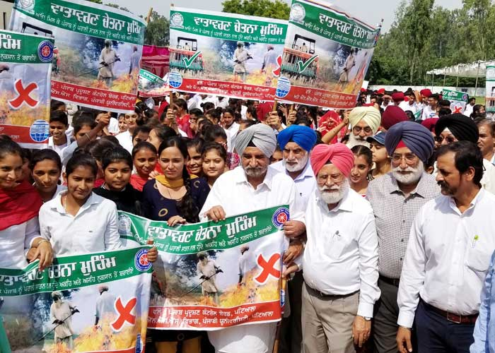 Tript Bajwa Against Stubble Burning March