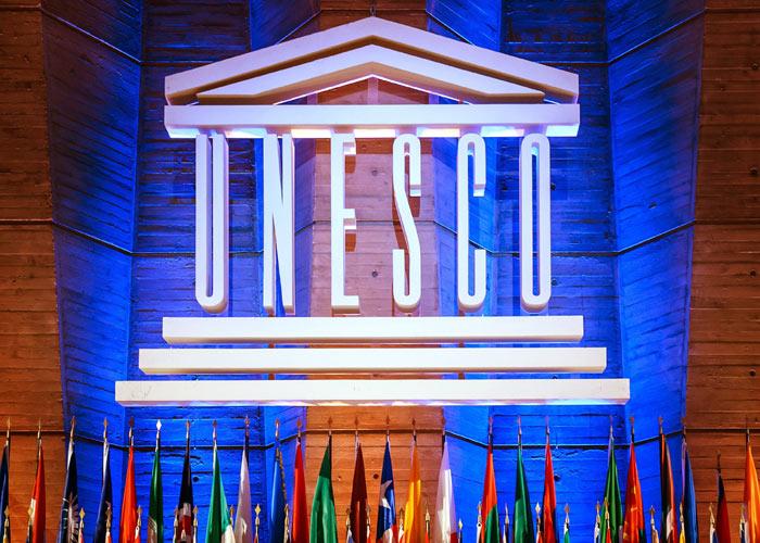 UNESCO united states withdrew flags