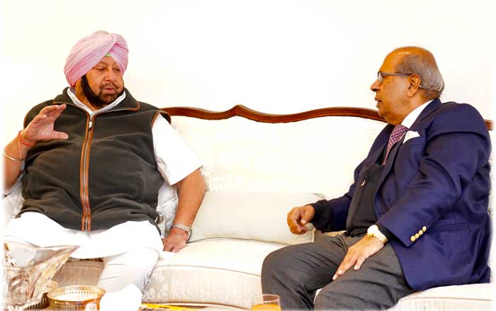 Capt Amarinder Prakash Hinduja meeting