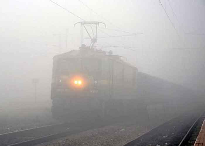 Train in fog India