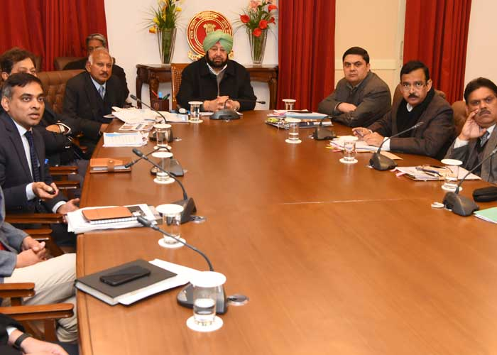 Amarinder Budah Nallah rejuvenation plan meeting
