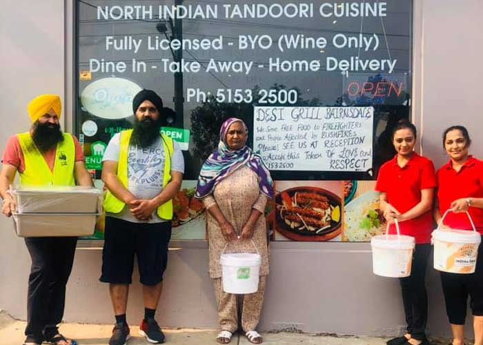 Desi Grill giving meal to Australia Fire Victim