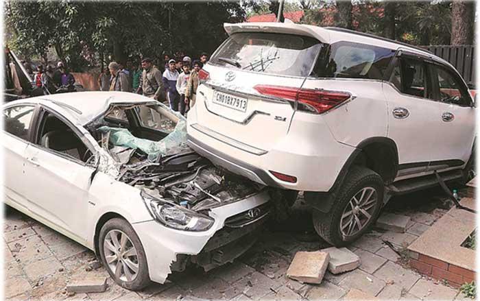 Fortuner Accident Chandigarh