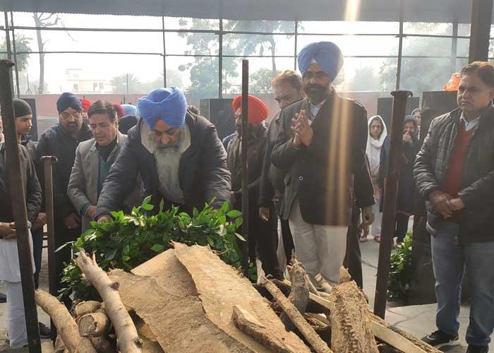 Kamaljit Singh Dhaliwal Cremation