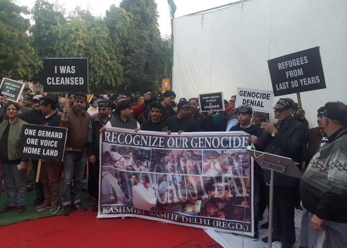 Kashmiri Pandits at Jantar Mantar