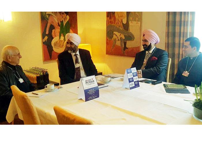 Manpreet Badal at Davos