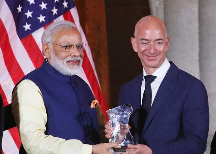 Narendra Modi Jeff Bezos