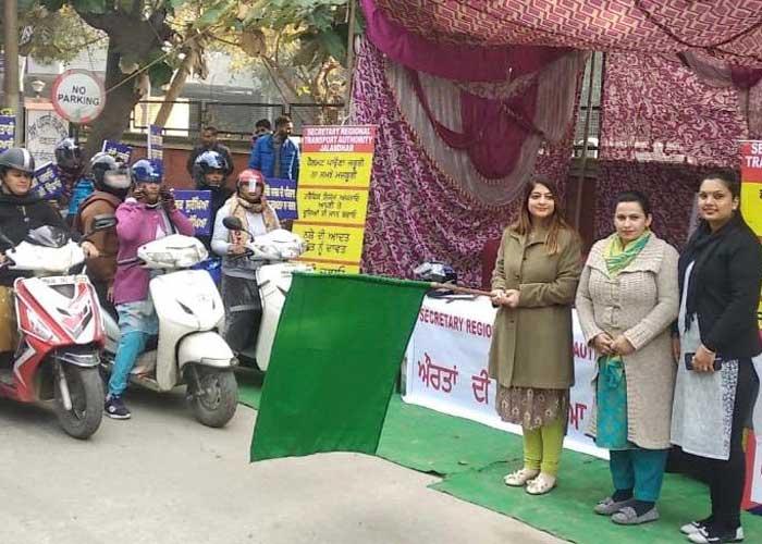 Nayan Jassal flagsoff Road Safety Awareness Rally