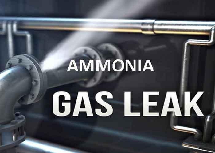 Ammonia gas leak