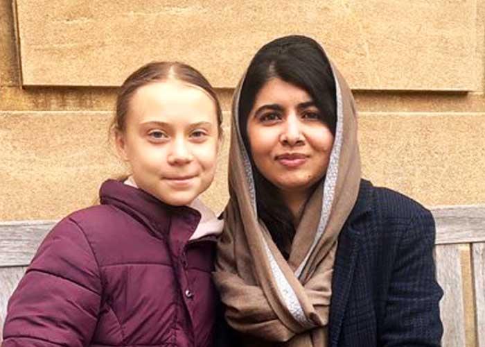 Greta Thunberg Malala Yousafzai