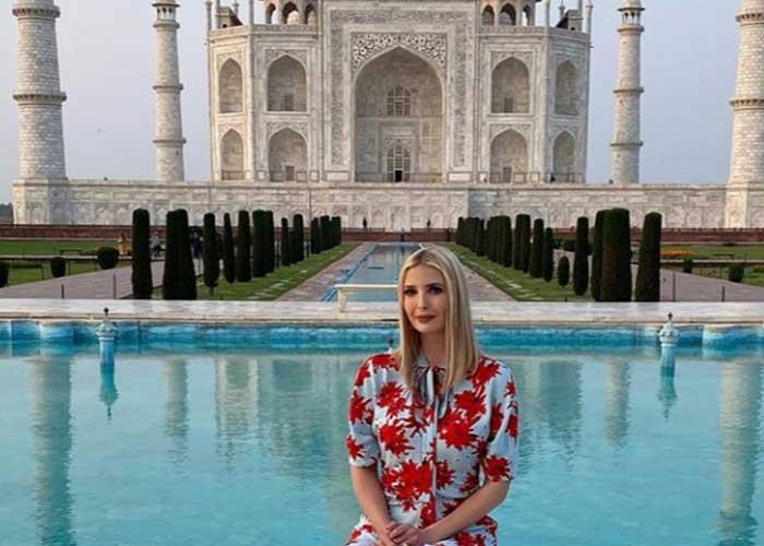 Ivanka Trump at Taj Mahal
