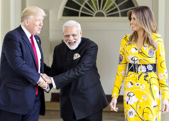 Modi Trump Melania